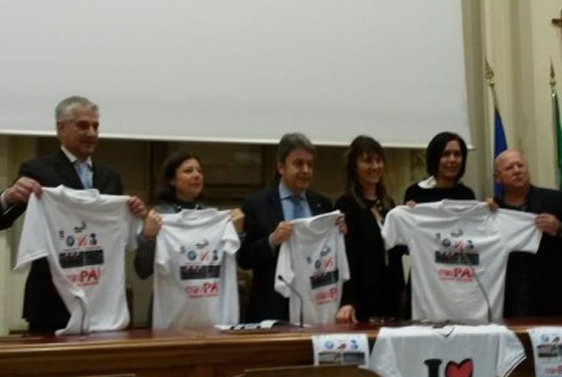 foto conferenza stampa partita del cuore del 6 dicembre organizzata da cantina valtidone