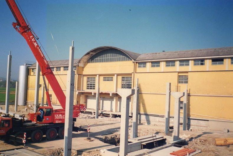 foto costruzione della cantina valtidone