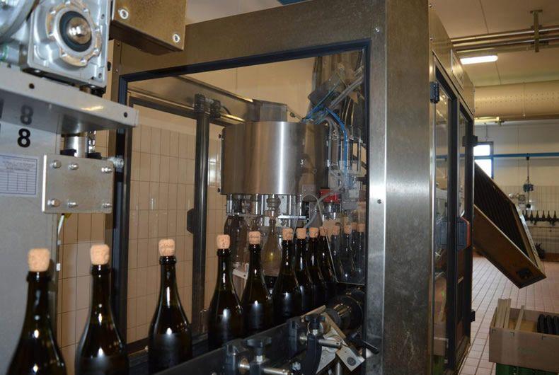 imbottigliamento vino, catena di montaggio