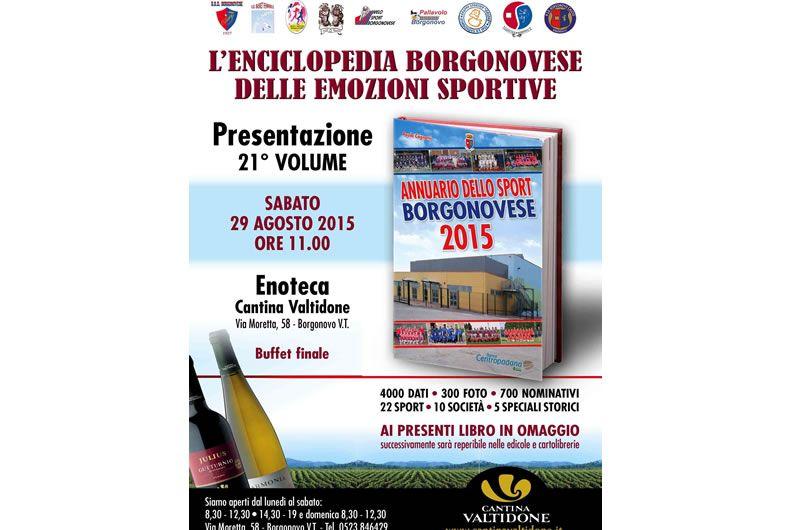Annuario dello sport borgonovese, presentazione in Enoteca