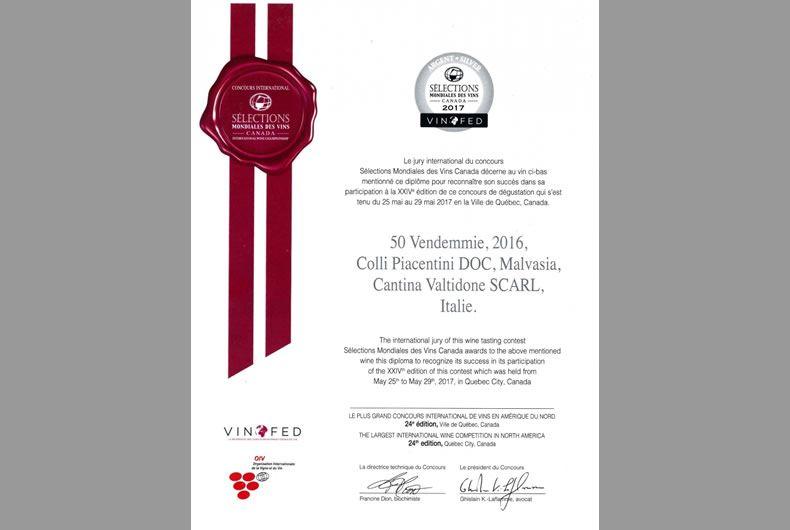 riconoscimento vinofed malvasia 2016