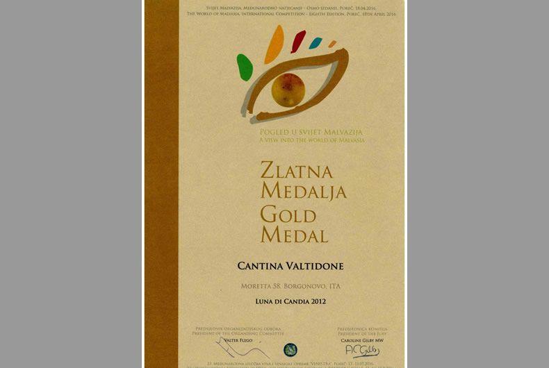 medaglia d'oro per luna di candia 2012