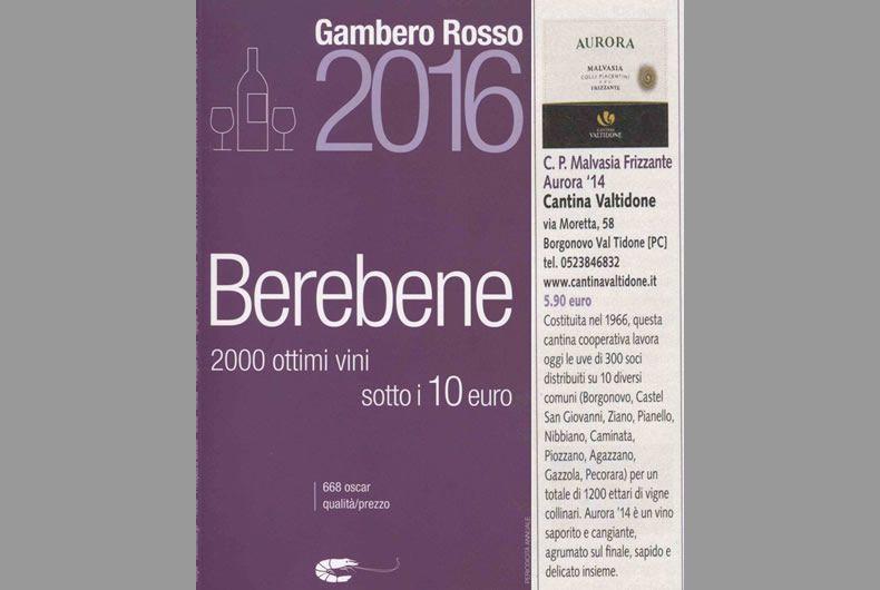 gambero rosso 2016 berebene 2000 ottimi vini sotto i 10 euro