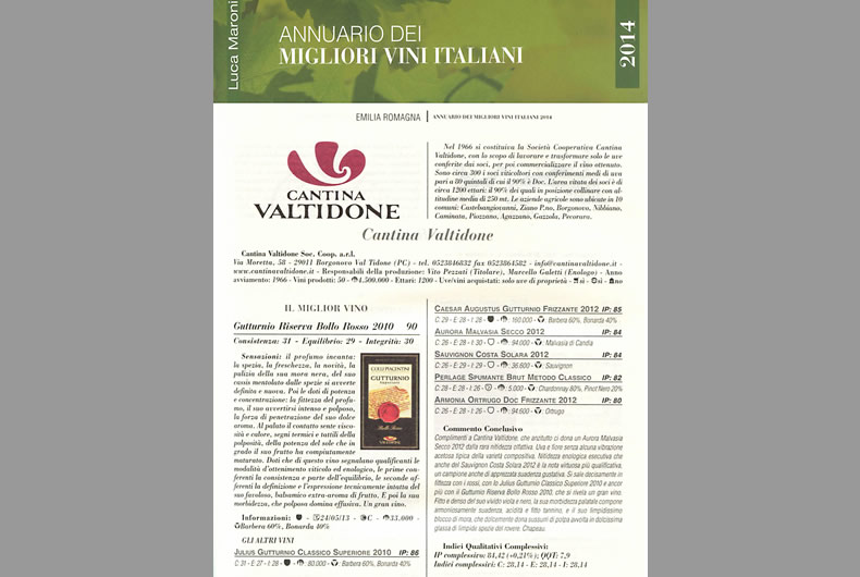 cantina valtidone sull'annuario dei migliori vini italiani