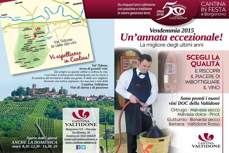 depliant per la vendita dei vini sfusi del 2015