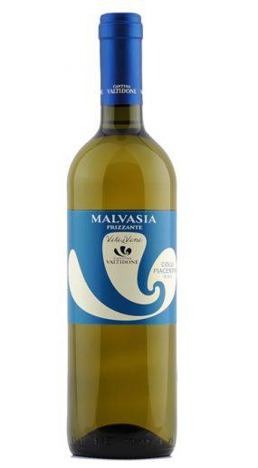 Bottiglia Vino Bonarda Amabile Frizzante D.O.C. Etichetta Blu