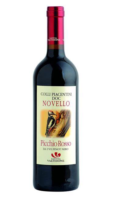 vino rosso frizzante novello doc val tidone picchio rosso