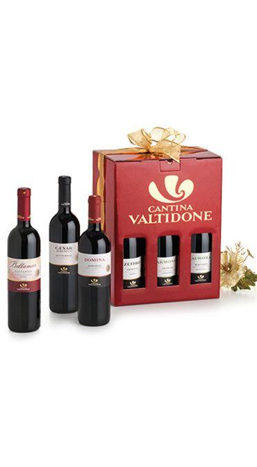 pacchetto natalizio vini, confezione rossa
