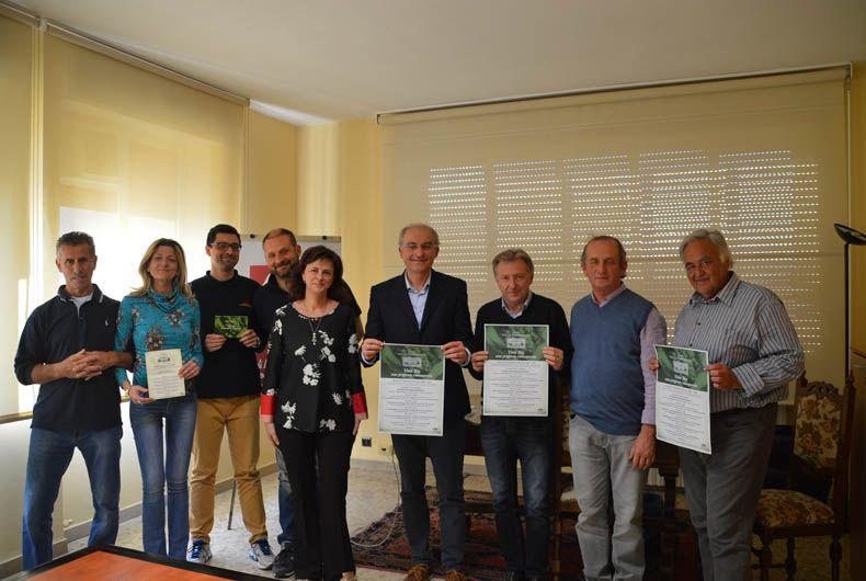 I rappresentanti della Cantina presentano il convegno sul vino biologicoW