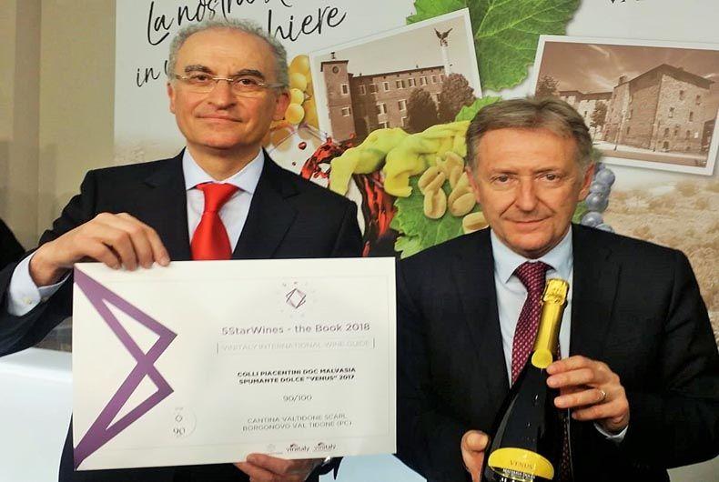 Fornasari e Fontana premio 5Starwines Malvasia spumante dolce Venus