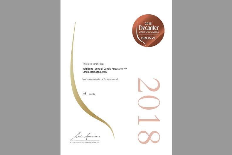 premio decanter 2018 cantina valtidone