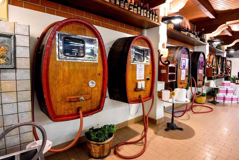 Impianti vino sfuso enoteca