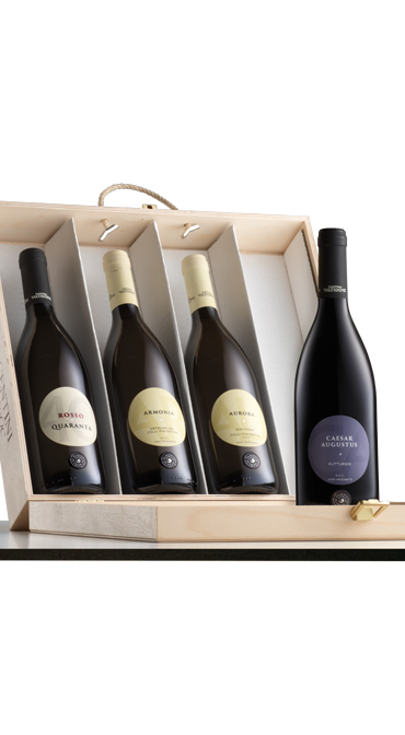 Cantinetta Legno 4 Bottiglie Vino Conf 919